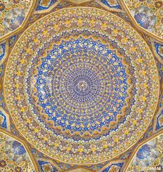 Dome of the mosque, oriental ornaments