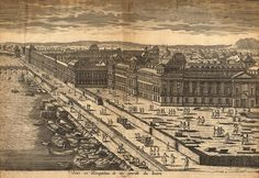 Century Drawing of the Louvre Museum - Opposite the Docks Where Cyrano Started the Fight Against The One Hundred In the Play/Movie Freedom Of The Press, Freedom Of Speech, Louvre Paris, Education Architecture, Construction, 16th Century, Art Education, Paris Skyline, City Photo