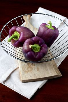 What to do with purple peppers?