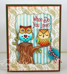 For the love of life: JustRite Papercrafts: Cascading Ferns & Owl Be There stamps