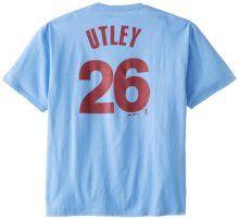 ad30573def2 MLB Mens Philadelphia Phillies Chase Utley Coastal Blue Short Sleeve Basic  Tee By Majestic (Coastal Blue