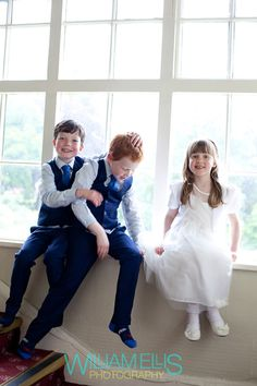 On their best behaviour: the adorable page boys and flower girl