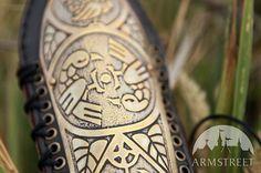 Archery Bracer Arm Guard Archeress etched brass armor by armstreet
