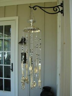 DIY Silverware Wind Chimes | visit pinterest com