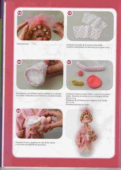 Revistas de manualidades Gratis: muñecos de mamá en tela