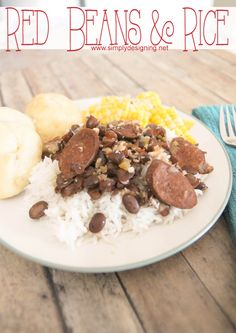 Cajun Red Beans and Rice  #dinner #recipe