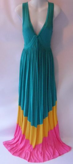 NEW DIANE von FURSTENBERG Kiwana Emerald Modal Silk Jersey Maxi Dress L NWT $265 #DianeVonFurstenberg #Maxi #Casual