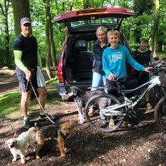 https://flic.kr/p/t81jAA | This is what house sitting looks like for us - 3 great dogs, a walk, a mtn bike ride and a run through the local woods - great fun :) #upsticksandgo #housesitting #petsitting #ercallwood #wellington #telford #exploring #travellingwithkids #michfrost #uk #