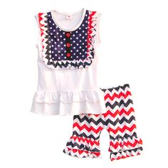 Find More Clothing Sets Information about 4th Of July Girls Boutique Ruffle Clothing Sets White Shirt With Stars Bib Chevron Ruffle Short Outfits Kids Clothes CO109,High Quality shirt buyer,China shirts cheap Suppliers, Cheap shirt hands from Conice Trading Co.,Ltd on Aliexpress.com