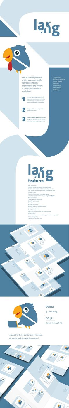Lang is a premium wordpress Divi child theme designed for service businesses, membership site owners, and educational content marketers. Lang use the Divi, a Business Brochure, Business Card Logo, International Companies, Image Icon, Web Themes, Photo Composition, Wordpress Theme Design