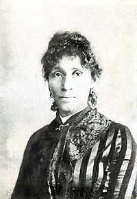 "Lucy Eldine Gonzalez  American labor organizer and radical socialist,. born around 1853 in Texas, likely as a slave, to parents of Native American, Black American and Mexican ancestry.  In 1871 she married Albert Parsons, a former Confederate soldier. They were forced to flee from Texas north by intolerant reactions to their interracial marriage. They settled in Chicago, Illinois.  Described by the Chicago Police Department as ""more dangerous than a thousand rioters"" in the 1920s,"