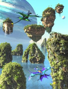 Pandora Jewelry OFF!>> Pandora Ocean Flight by DrowElfMorwen on DeviantArt Avatar Theme, Avatar Fan Art, Avatar Movie, Fantasy Art Landscapes, Fantasy Landscape, Fantasy Places, Fantasy World, Pandora Avatar, Avatar James Cameron