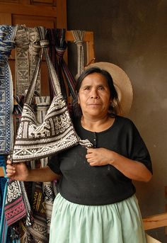 Weaver From Cuanajo, a Purepecha Village in Michoacan,  Mexico