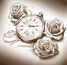 clock/flowers - next tattoo?!
