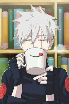 I thought it was Prussia, but it's kakashi. Kakashi Hatake, Naruto Shippuden, Kakashi And Obito, Naruto E Boruto, Anime Naruto, Art Naruto, Naruto Boys, Manga Anime, Akatsuki