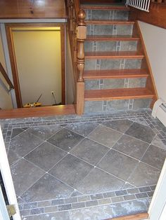 remodeling split foyer | Re: Split Level Foyer From Carpet To Hard Wood Treads,tile Risers,and ...
