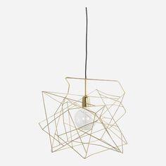 Lamp shade Asymmetric shiny gold