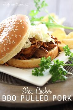 Slow Cooker BBQ Pulled Pork... An easy and delicious meal that throws together quickly! #slowcooker #recipe  @Nikki {chef-in-training.com}
