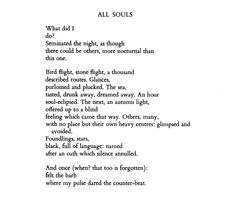 """""""Foundlings, stars, black, full of language: named after an oath which silence annulled."""" // Paul Celan • All Souls"""