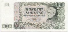 100 Schilling 1954 (Grillparzer) Österreich Zweite Republik Austria, Vintage World Maps, The 100, The Past, History, Retro, Vienna, Study, Business
