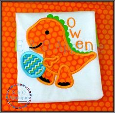 Dino Easter Egg Applique Design  Easter Applique Designs