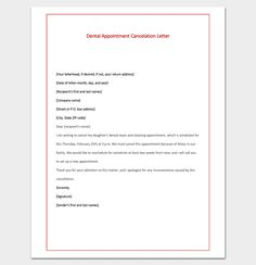 dental appointment cancelation letter pdf format 2