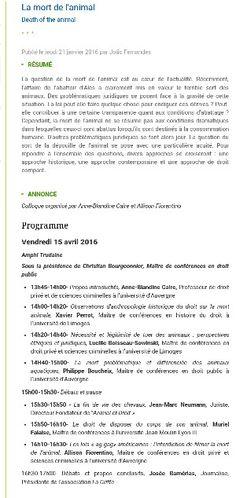 15 Avril_ à partir de 13h45_  Fac de droit_ Bvd Miterrand_ Amphi Trudaine