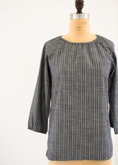 Purl Soho I think Tunic Dress Patterns, Shirt Dress Pattern, Linen Shirt Dress, Clothing Patterns, Sewing Patterns, Sew Your Own Clothes, Sewing Clothes, Couture, Raglan Shirts