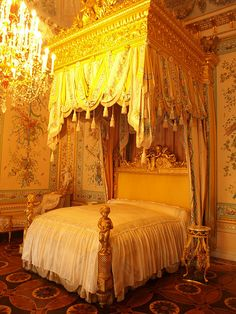 Russia, Pavlosk palace, bedroom