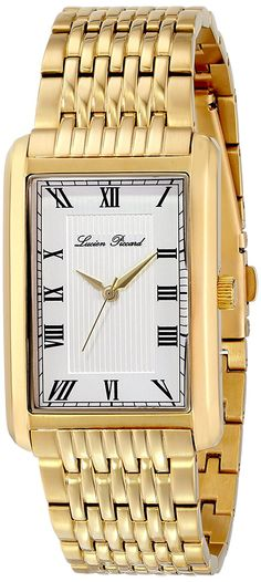 Lucien Piccard Men's LP-30010-YG-22S Avignon Analog Display Japanese Quartz Gold Watch * Check this awesome watch by going to the link at the image.