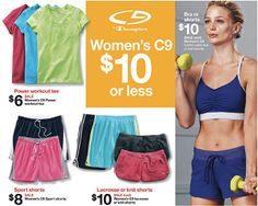 Women's C9 Workout Clothes As Low As $2.70 At Target!