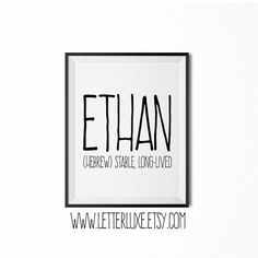 & Sign Decor Meaning Anthony Name Meaning Printable Nursery Art Baby Shower Gift