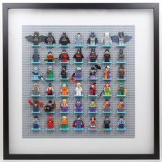 Lego Batman Minifigure Display with Ikea Ribba Frame Revisited | BrickKnight