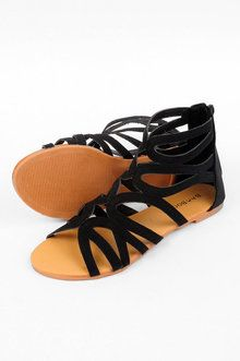 Shoes ~ TOBI~Maniac Strappy sandals--zippered back