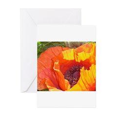 Orange poppy Greeting Cards on CafePress.com