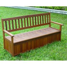 Custom Made Custom Western Red Cedar Patio Storage Bench. | Patio ...