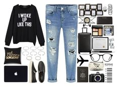 """""""A Travelling Morning"""" by minionandbaymaxlover ❤ liked on Polyvore featuring mode, American Eagle Outfitters, Xhilaration, Smythson, Olympus, Azzure Home, Tumi, Wet Seal, MICHAEL Michael Kors et Bobbi Brown Cosmetics"""