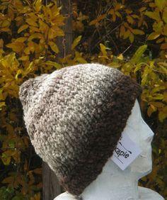 ski hunt fishing hand spun 100% wool beanie hat natural plant dyes hand knit L  #iskapie #Beanie
