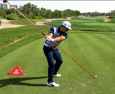 Golf Tips Swing Rickie Fowler swing position Rickie Fowler Swing, Golf Basics, Golf Putting Tips, Chipping Tips, Golf Videos, Driving Tips, Golf Instruction, Golf Tips For Beginners, Golf Training
