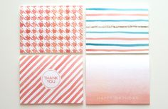 Watercolor Note Cards from Social Proper