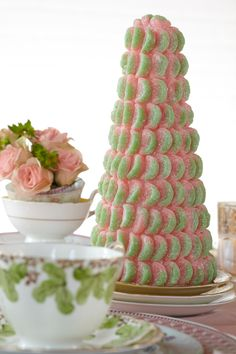 Super cute candy trees make the perfect centerpieces at baby showers! @HUGGIES Baby Shower Planner