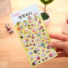 1PC/Lot New Kawaii 3D Lovely  Rabbit series sticker Foam Sticker/hot sell deco packing stickers/school office supplies #Affiliate