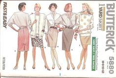 1980s Womens One Yard Skirt Pattern  Butterick 5880 by ErikawithaK