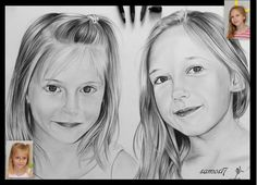 portrait dessin enfants - Drawing,  30x41 cm ©2015 by samos17 -  Drawing