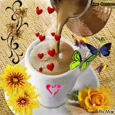 Each new day is a blank page in the diary of your life. The secret of success is in turning that diary into the best story you possibly can. Good Morning Smiley, Good Morning Gift, Cute Good Morning Images, Good Morning Roses, Good Morning Coffee, Coffee Gif, Coffee Images, Coffee Love, Coffee Quotes