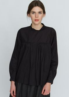 Bamboo by High Neck Blouse Black $260