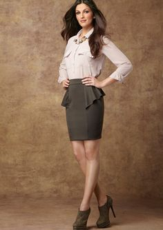CASUAL COUTURE Peplum Paneled Skirt  http://www.roehampton-online.com/?ref=4231900