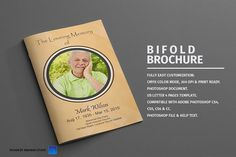 Funeral Program Bi-Fold Template by Madhabi Studio on @creativemarket