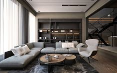 34 inspiring examples of use of luxury living room decor design 33 Living Room Paint, New Living Room, Living Room Kitchen, Living Room Modern, Living Room Designs, Living Room Decor, Dining Room, Living Room Contemporary, Muebles Living