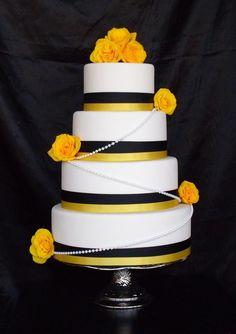 ME GUSTA. black & yellow cakes | Black and Yellow Wedding Cake